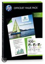 HP 920XL - Inktcartridge / Cyaan / Magenta / Geel + Papier / Hoge Capaciteit