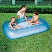 Bestway Zwembad 1-ring opblaasbare bodem 165x104x25cm - Blauw