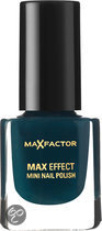 Max Factor Max Effect - 37 Prussian Blue - Blauw - Mini Nagellak
