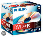 Philips DVD+R 16x 4.7GB / 120min JC(10)