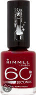 Rimmel 60 Seconds Finish - 320 Rapid Ruby - Rood - Nagellak
