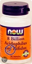 Now 8 Billion Acidophilus and Bifidus Capsules 60 st