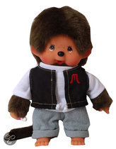 Monchhichi Jongen Street Black Outfit