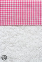 Cottonbaby Boerenbont - Wieglaken 75x90 cm - Fuchsia