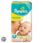 Pampers New Baby - Maat 2 met urine indicator Midpak 44 st.