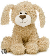 Puppy hond zittend. 28 cm