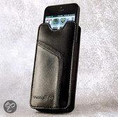 Ten97 Leather Pouch, Echt Lederen iPhone 5 & 4 Sleeve, Zwart