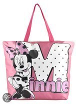 Minnie strandtas, name, fuchsia