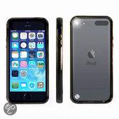Apple iPod Touch 5 Hoesje Bumper case met achterkant Zwart Black