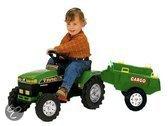 Falk Tractor met aanhanger groen
