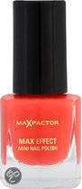 Max Factor Max Effect - 09 Diva Coral - Rood - Mini Nail Polish
