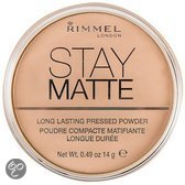 Rimmel Stay Matte Pressed Powder - 8 Cashmere - Make-up Poeder