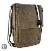 Canvas Messenger Bag / School / 10 inch Tablet / 11 inch Laptop / Ultra-Book - legergroen