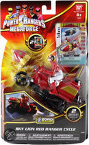 Bandai Power Rangers Zord Motorfiets - Rood