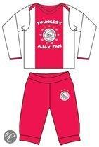 Ajax Baby pyjama youngest fan rood wit maat 86/92