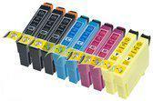 Compatible Epson T1816 / Epson 18XL / Epson 18 met chip, 9 pak. 3 Zwart, 2 Cyaan, 2 Magenta, 2 Geel.