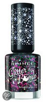 Rimmel Glitter Bomb Special Effect Nail Colour - 020 Midnight Mistletoe - Nailpolish