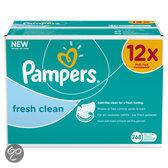 Pampers Fresh Clean - Doekjes Navulpak 12x64 st.