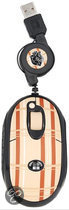 Mad for Plaid, Retractable Mini Optical Mouse (Brown)