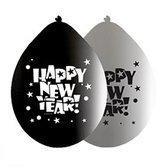 Happy new year ballonnen 8 stuks