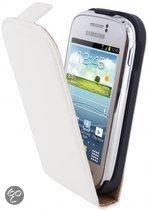 Mobiparts Premium Flip Case Samsung Galaxy Young White
