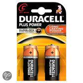 Duracell Plus Power C Alkaline Batterijen 2x Pak