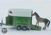 Bruder Pro Paardentrailer met Paard