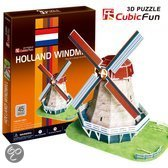 3D Puzzel Holland Molen 45Dlg.