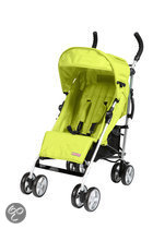 Top Mark - 5 posities buggy Aluminium - Lime