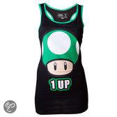 Nintendo Dames Tank Top Zwart 1 UP Maat L