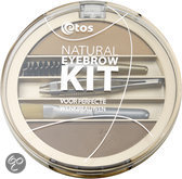 Etos Natural Eyebrow Kit 001 - Bruin - Wenkbrauwmake-up