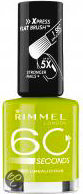 Rimmel London 60 Seconds Finish Nailpolish - Lime - Nagellak