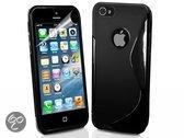 Iphone 5S Soft Siliconen Skin Case, Stoere S-Line Telefoon Hoes - Kleur Zwart - merk i12Cover