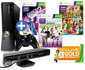 Foto van Microsoft Xbox 360 Slim 250GB + Kinect Sensor + 1 Controller + 3 Games + 1 Maand Xbox Live Gold
