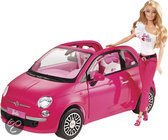 Barbie met Fiat 500 - Barbie pop met Barbie auto - Roze