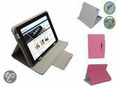 Cherry Mobility 10.1 Quadcore M1023q Diamond Class Cover, Stijlvolle Hoes, Multi Stand Case, Roze, merk i12Cover