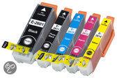 Compatible Epson T2636 / 26XL, 5 Pak. 1 Zwart groot, 1 Zwart klein, 1 Cyaan, 1 Magenta, 1 Geel.