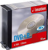 Imation DVD+R 120min/4,7Gb 10 stuks in slimcase