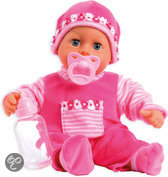 Pop My First Words Baby met 24 Functies - 38 cm - Roze