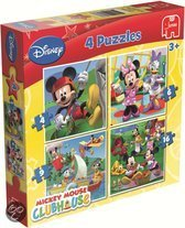 Disney Mickey Mouse Clubhouse - 4in1 Puzzle