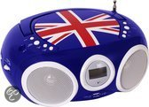 Portable Radio/CD Speler Nostalgia Great Britain + USB
