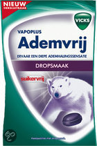 Vicks Throat Drops Blue Ademvrij - 75 gr - Suikervrije drop