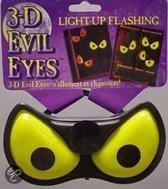 Halloween 3D Evil Eyes glow in the dark  Geel