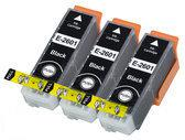 Compatible Epson T2636 / 26XL, 3 Pak. 3 Zwart groot.