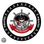 Bierviltjes Piraten thema print