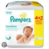 Pampers Sensitive - Doekjes Navulpak 6x56 st.