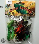 Plastic insecten set 12 delig