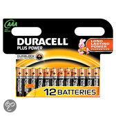 Duracell Plus Power AAA Alkaline Batterijen 12x Pak