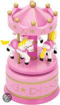 Muziekdoos - Carrousel - Roze