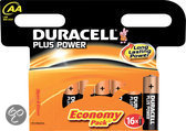 Duracell Plus Power AA Batterijen - 16 Stuks